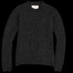 Round Neck alpaca sweater in anthracite