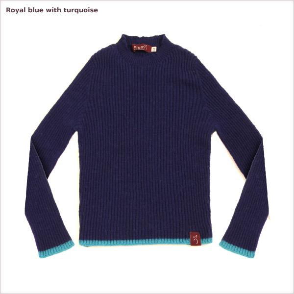 Plum of London BNWT Alpaca Children/'s Crew Jumper Blue Ages 6-7 Was £70 Now £14